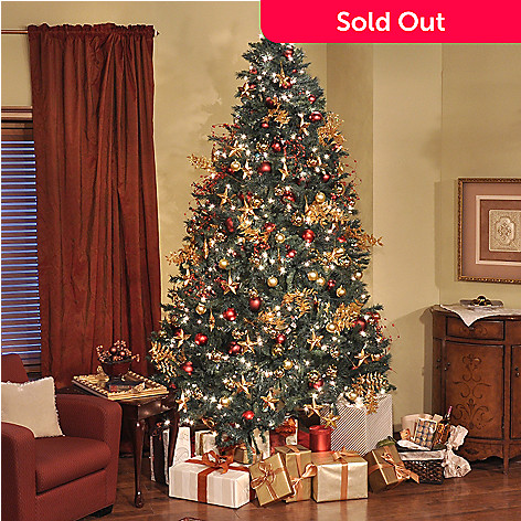 403-166 - Thomas Pacconi Classics 9' Pre-lit Revolving Artificial Christmas Tree