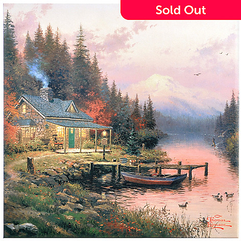 403-199 - Thomas Kinkade End of a Perfect Day 14'' x 14'' Gallery Wrap