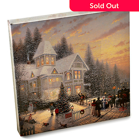 403-218 - Thomas Kinkade Gallery Wrapped Canvas 14'' X 14'' Holiday Collection