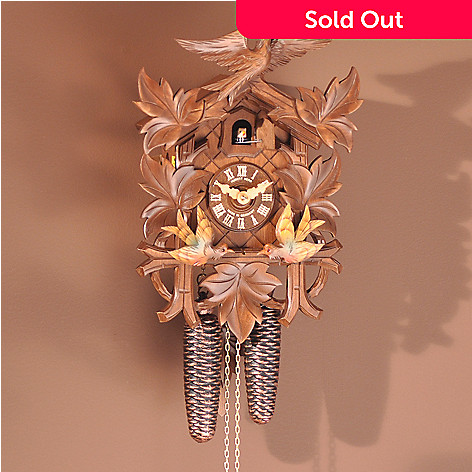 403-269 - Hubert Herr Flying Bird Handmade Wood Black Forest Cuckoo Clock