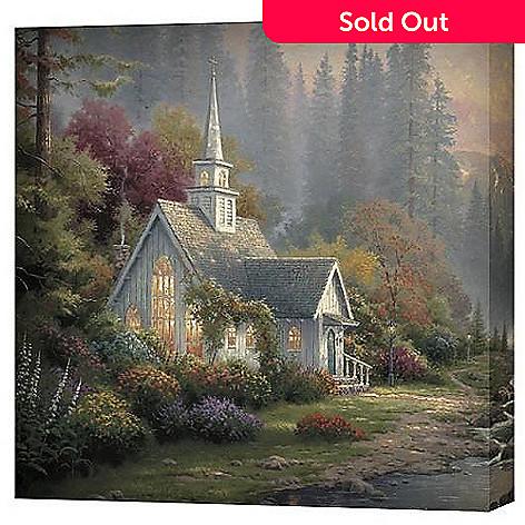 403-415 - Thomas Kinkade Chapel Scenes 20'' x 20'' Gallery Wrap