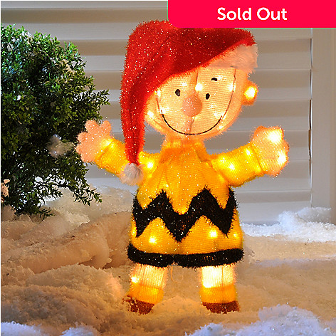 403-986 - Soft Tinsel 32'' Light Up Charlie Brown Yard Art