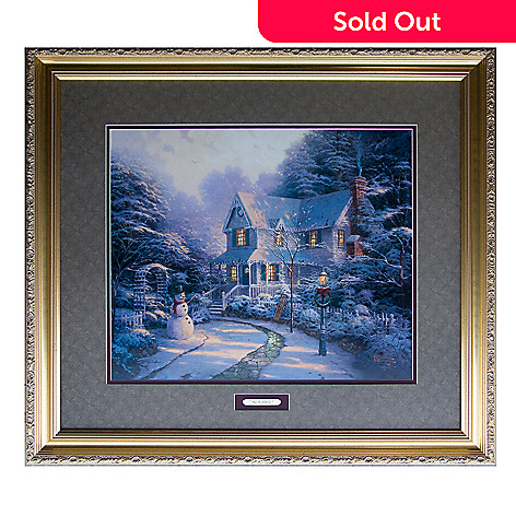 404-202 - Thomas Kinkade Limited Edition Night Before Christmas 20'' x 24'' Framed Paper Artwork