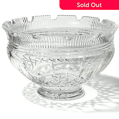 404-235 - Waterford Lismore Castle 10'' Crystal Footed Bowl