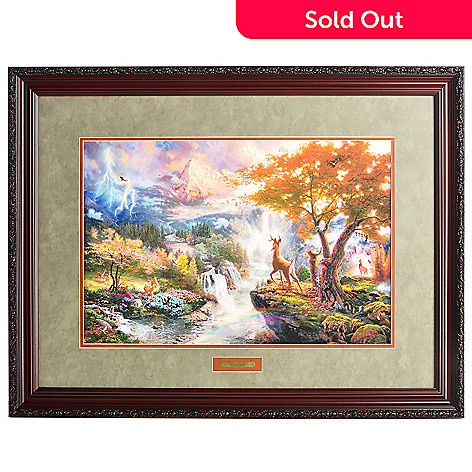 404-518 - Thomas Kinkade Limited Edition Bambi's First Years 18'' x 27'' Framed Print