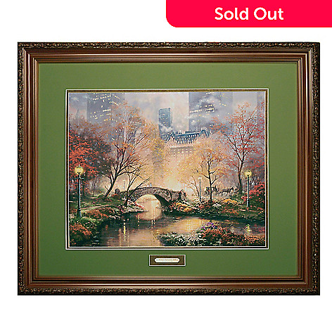 404-792 - Thomas Kinkade ''Central Park in the Fall'' Framed Limited Edition