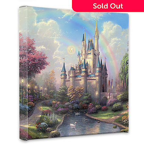 405-011 - Thomas Kinkade ''A New Day at the Cinderella Castle'' 14'' x 14'' Gallery Wrap
