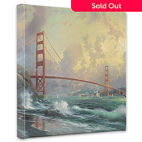405-025 - Thomas Kinkade ''Golden Gate Bridge, San Francisco'' Gallery Wrap