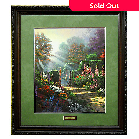 405-207 - Thomas Kinkade ''Garden of Grace'' Limited Edition Framed Paper