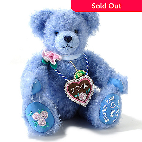 405-393 - Hermann-Spielwaren ''Happy Oktoberfest'' Blue Mohair Bavarian Bear
