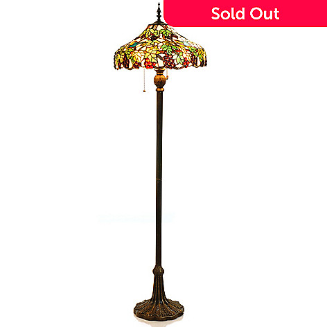 405-441 - 63'' Vines Stained Glass Floor Lamp