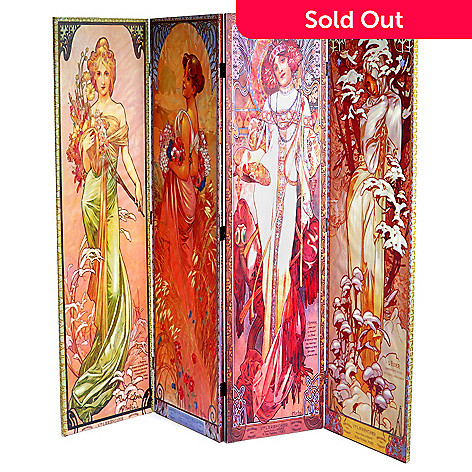 405-542 - Seasons Four-Panel Floor Screen