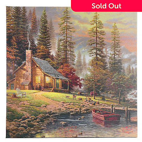 405-643 - Thomas Kinkade ''Peaceful Retreat'' 20'' x 20'' Gallery Wrap