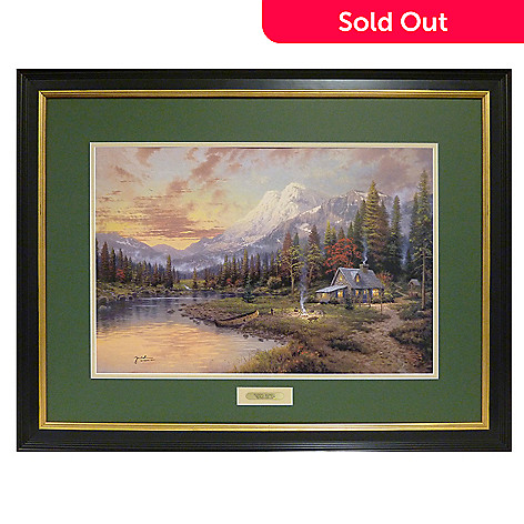405-673 - Thomas Kinkade ''Evening Majesty'' Limited Edition Framed Print