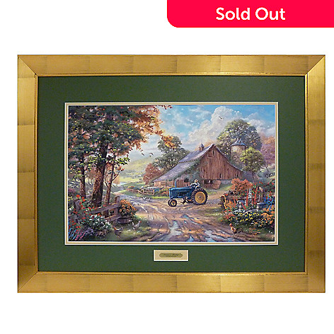 405-675 - Thomas Kinkade Limited Edition Summer's Heritage 17.5'' x 26.5'' Framed Print
