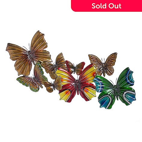 405-729 - Butterfly 21.5'' x 47'' LED-Lit Wall Plaque