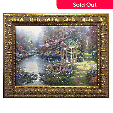 405-779 - Thomas Kinkade ''Garden of Prayer'' Framed Textured Print