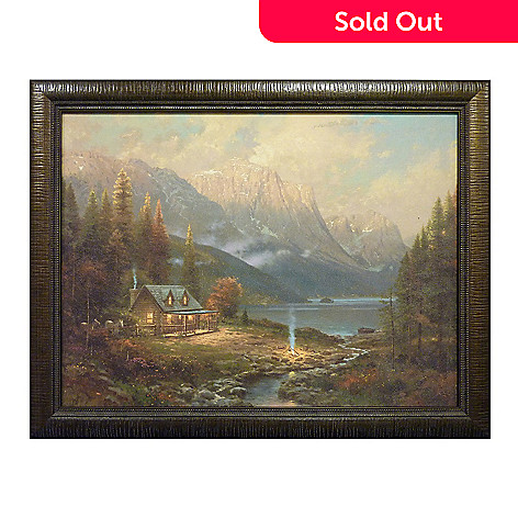 405-781 - Thomas Kinkade ''Beginning of a Perfect Day'' Framed Textured Print