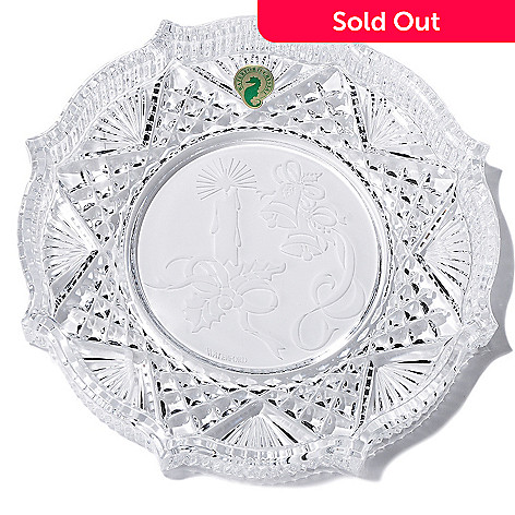 405-889 - Waterford® Holiday 8'' Crystal Tray