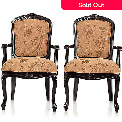405-939 - Style at Home with Margie Set of Two 38'' Edwardian Style Dining Chairs