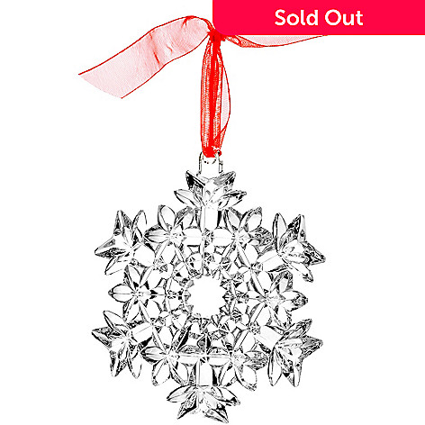 405-940 - Waterford® 3.5'' Snow Star Crystal Ornament
