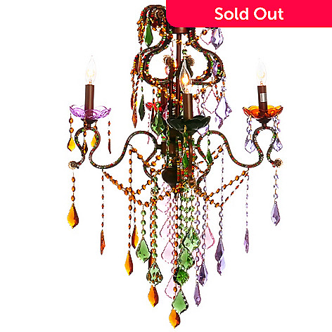 405-956 - Style at Home with Margie 20'' Carnival Crystal Chandelier