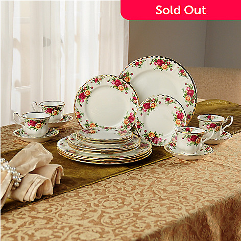 405-973 - Royal Albert Old Country Rose 20-Piece Bone China Dinnerware Set