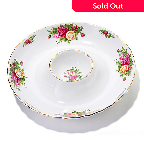 405-976 - Royal Albert Old Country Roses One Piece Chip & Dip Dish