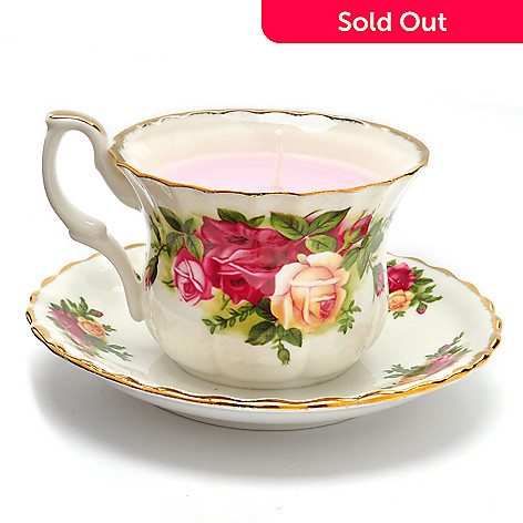 405-982 - Royal Albert® Signed Old Country Roses Candle Tea Cup