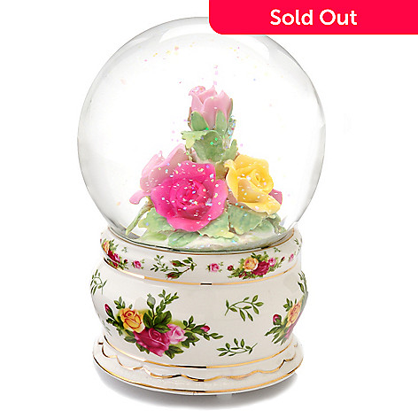 405-987 - Royal Albert Old Country Roses Musical Snow Globe