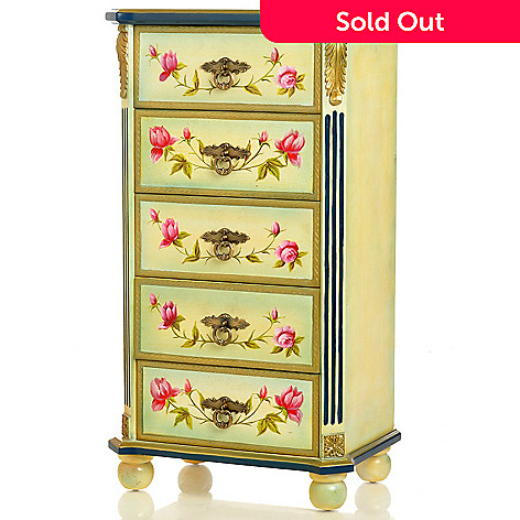 406-005 - Style at Home with Margie 39'' Delicate Rose Five-Drawer Cabinet