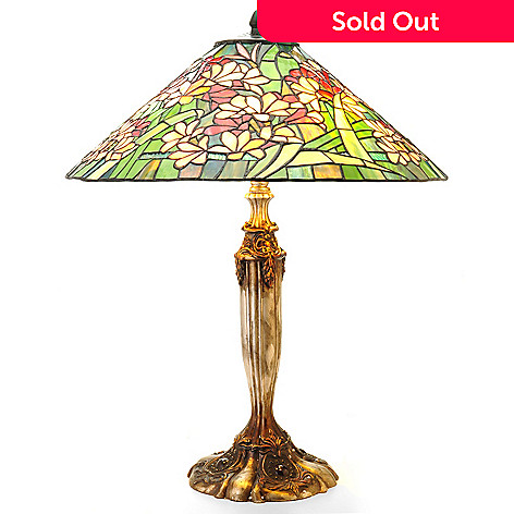 406-021 - Tiffany-Style 26'' Coral Canyon Stained Glass Table Lamp