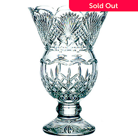 406-045 - Waterford Crystal Signed Lismore Thistle 8-1/2'' Vase