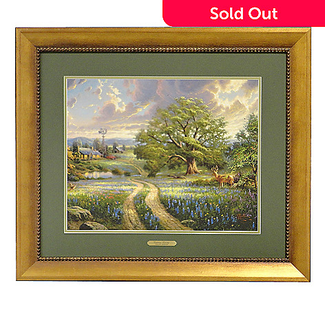 406-061 - Thomas Kinkade ''Country Living'' Framed Print