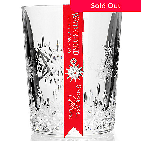 "406-069 - Waterford® Crystal Snowflake Wishes ""Joy"" 12 oz Glass"