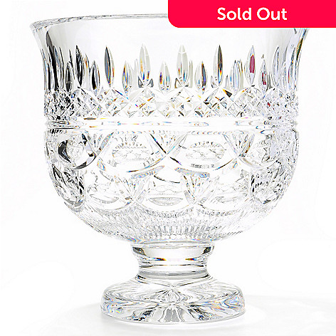 406-078 - House of Waterford Lismore 60th Anniversary 10'' Crystal Trifle Bowl