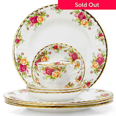 406-158 - Royal Albert Old Country Rose 12-Piece Dinner Set