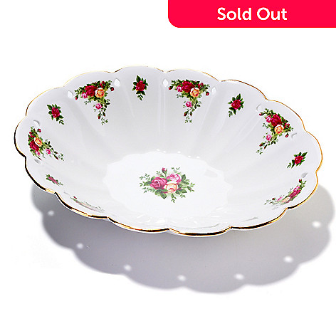 406-170 - Royal Albert® Old Country Rose Low Oval Bowl
