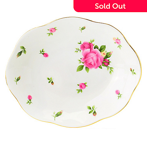 406-186 - Royal Albert® New Country Roses 6'' Oval Tray Signed by Michael Doulton