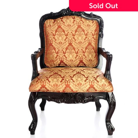 "Style at Home with Margie 40 75"" Upholstered Fauteuil Style Arm Chair"
