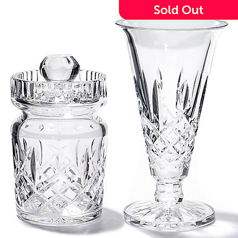 406-258 - Waterford® Crystal Araglin Jam Jar & Posy Vase Set