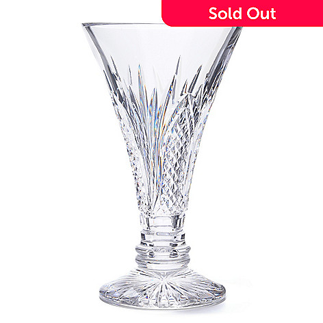 406-266 - Waterford Crystal 60th Anniversary 10'' Vase - Signed by Jim O'Leary