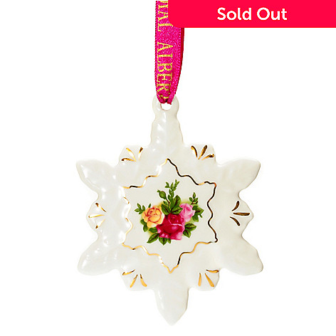 406-282 - Royal Albert® Old Country Roses 3-1/2'' Porcelain Snowflake Ornament