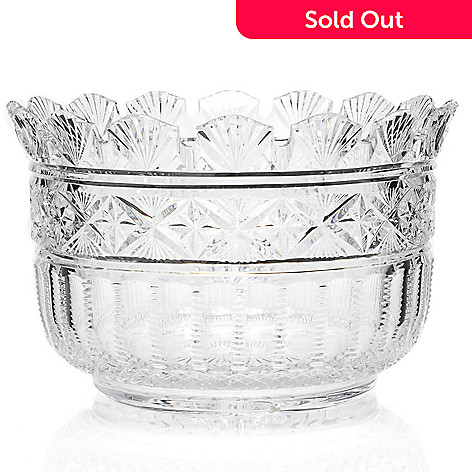 406-306 - House of Waterford Designer Series 7.5'' Crystal Tara Bowl -Signed by Jim O' Leary