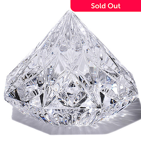 406-317 - Waterford Crystal 3'' Lismore Diamond Shaped Paperweight