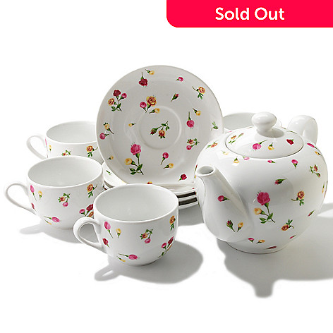 406-320 - Royal Albert® Old Country Rose Buds Nine-Piece Porcelain Tea Set