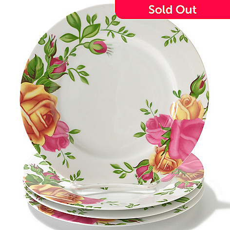 406-325 - Royal Albert® Country Rose Set of Four Porcelain Dessert Plates