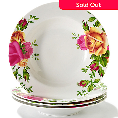 406-326 - Royal Albert® Old Country Roses Set-of-Four 9'' Porcelain Rim Soup Bowls