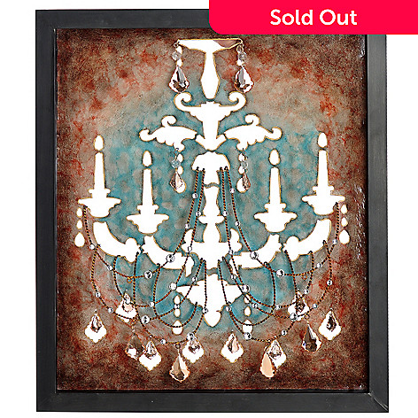 406-348 - 25'' x 21.5'' The Elegant Chandelier Wall Decor