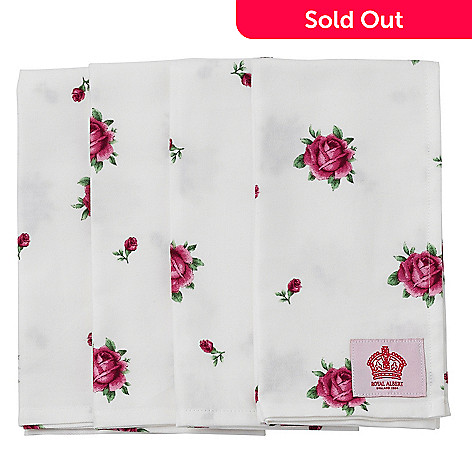 406-354 - Royal Albert® New Country Roses Set of Four White Napkins